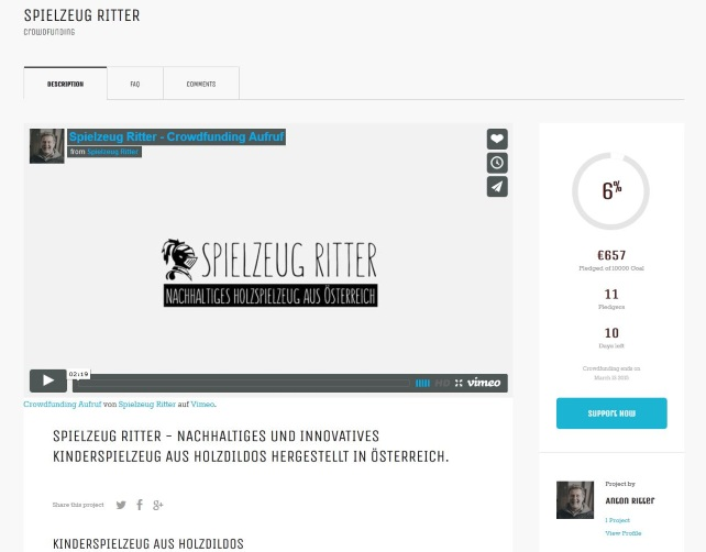 Anton Ritters Crowdfunding ist gefaked